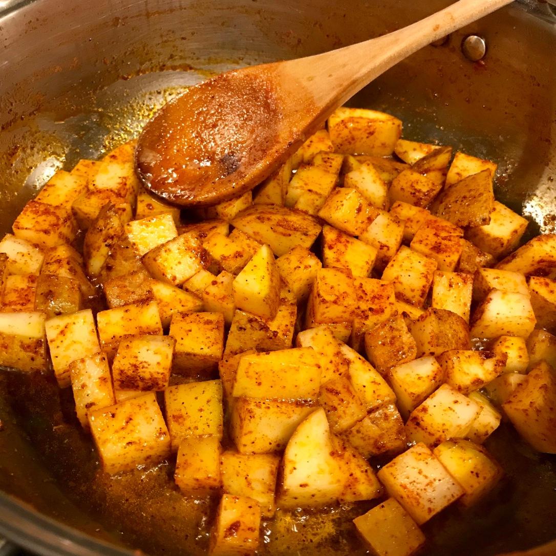 Potatoes in chili powder