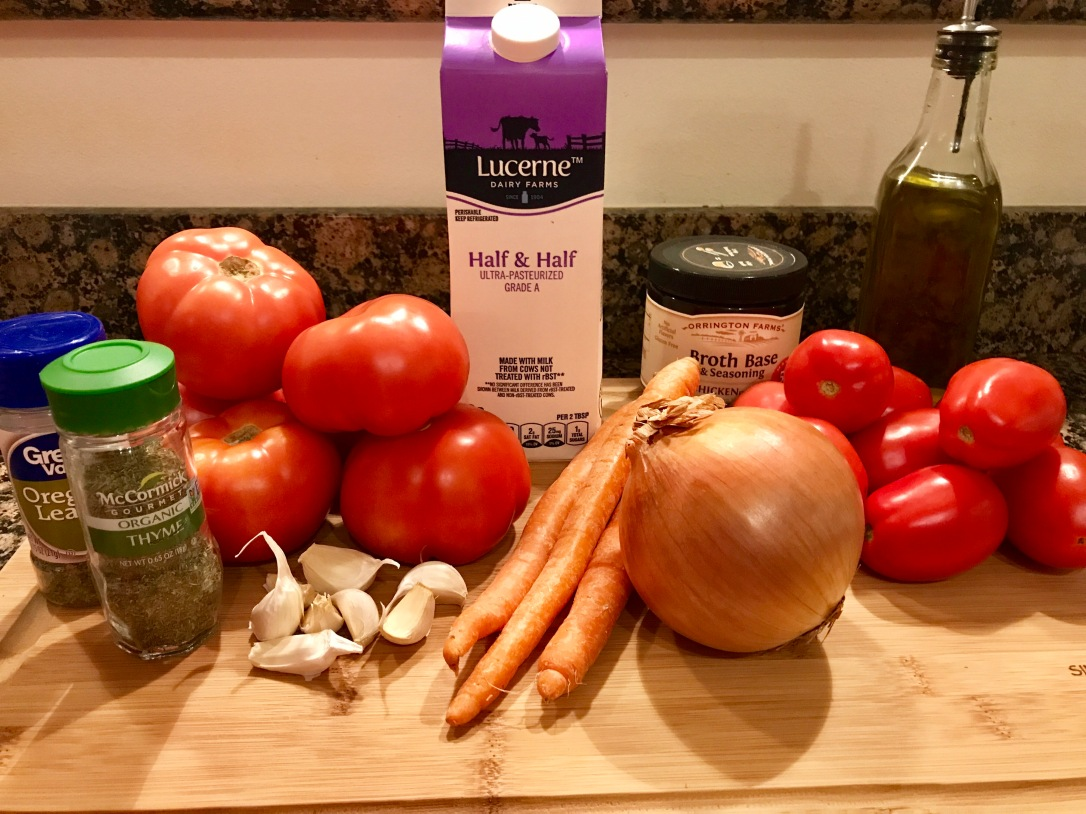 Roasted Tomato Bisque ingredients