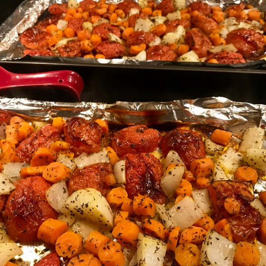 Roasted Tomato Bisque veggies