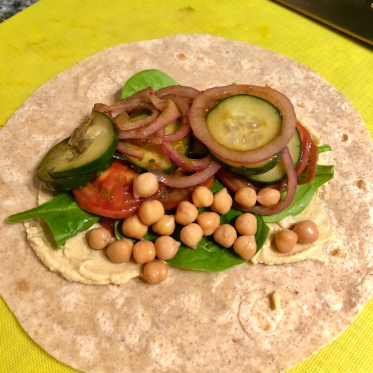 Mediterranean Vegetable Wrap with Hummus
