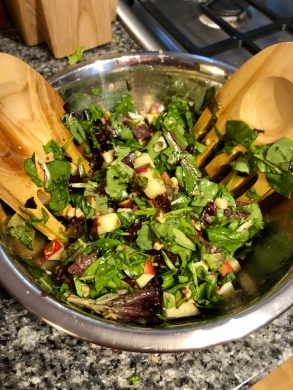 Toss in vinaigrette immediately before serving