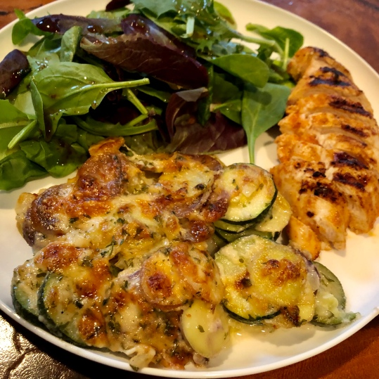 Zucchini and Potatoes Gratin
